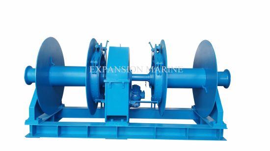 35t Marine Lifting Equipment Hydraulic Double Drum Anchor Winch