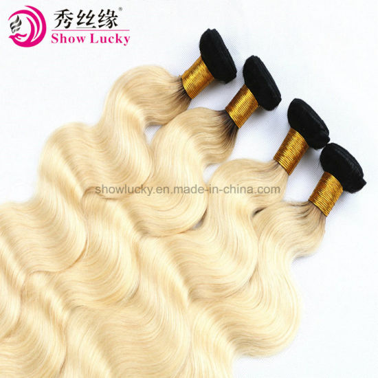 Long Hair Body Wave 1b/613 Ombre Malaysian Hair Cuticle Aligned Hair Remy Human Hair Weaving