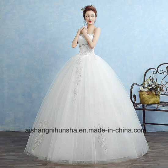 China Sweetheart Princess Fashion Inexpensive Wedding Dress - China ...