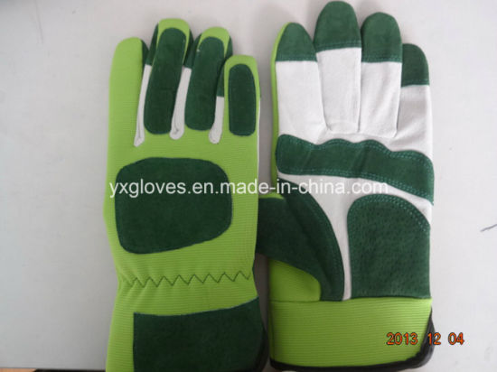Pig Split Leather Glove-Garden Glove-Working Glove pictures & photos