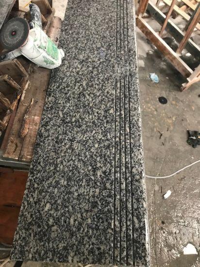 Natural Stone Light Gray Granite Steps, Granite Stairs