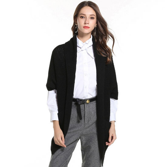 Pure Color Winter Knitwear Cardigan Coat Women Fashion Casual Sweater