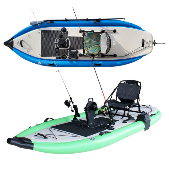 Inflatable Fishing Kayak Boat with Foot Pedal System Sup Fishing Rod Holder