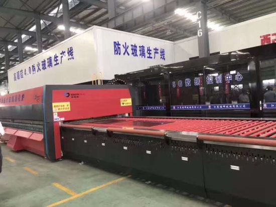 Southtech Horizontal Continuous Model Full Automatic High Capacity Passing Technology Flat Home Appliance Glass Tempering Furnace (LPG series)