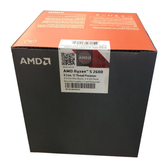 China Amd Ryzen 5 2600 R5 2600 Ghz Six Core Twelve Thread Cpu Processor L2 3m L3 16m 65w Socket Am4 New And With Fan China Amd And Cpu Price