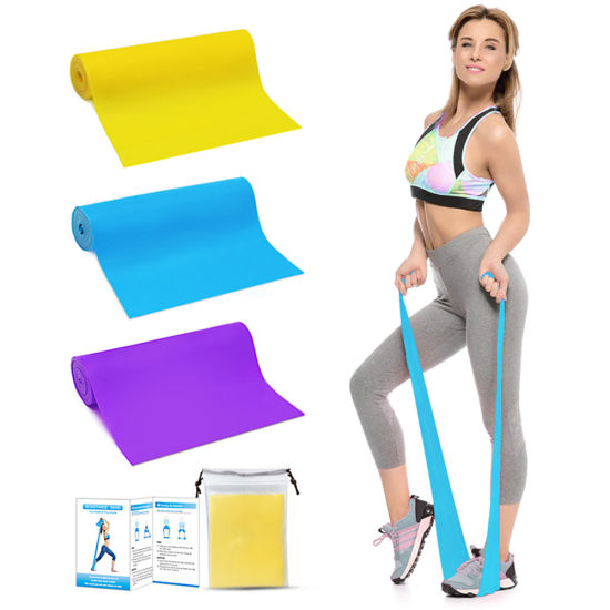Best Fitness Home Training Natural Latex Resistance Bands, Different Resistance Levels Elastic Yoga Bands