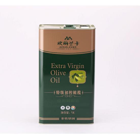 Custom Tinplate Extra Virgin 5 Lt Olive Oil Tin Cans