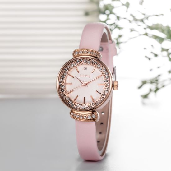 New Dress Diamond Super Slim Leather Cheap Ladies Watches Wy-084