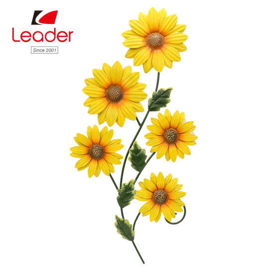 Metal Yellow Sunflower Hanging For Wall Decor Art