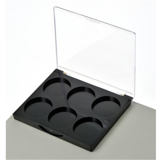 Y104-5 Unique Shape 6 Color Plastic Eyeshadow Palette Case Blush Palette Compact Box Cosmetic Packaging