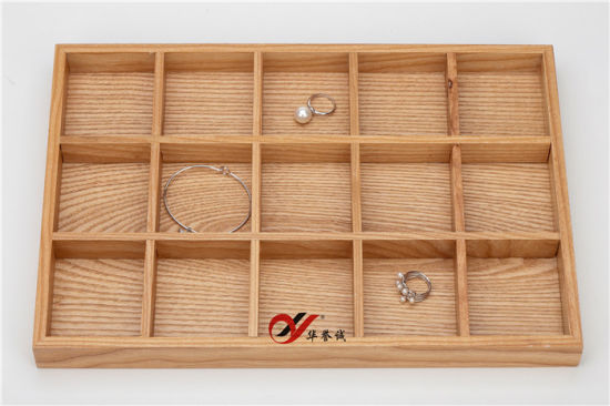 Wholesale Custom Wooden Jewelry Display Tray 5*3 Jewelry Display Stand Pendant Ring
