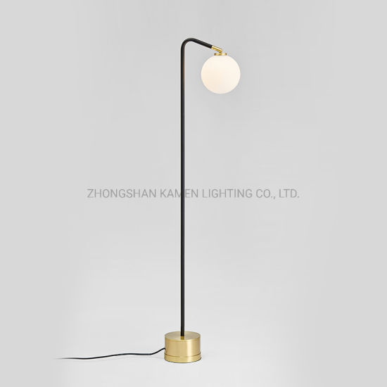 Metal Design Gl Ball Floor Lamp