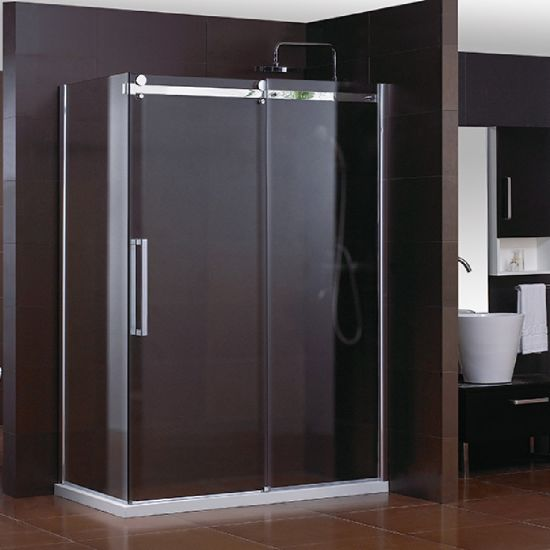 Hot Selling L Shape Big Rollers Sliding Shower Enclosure with Side Panel