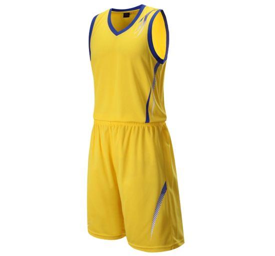 39ba7caec5c China 2019 Design Color Yellow Basketball Jersey Uniform Design ...
