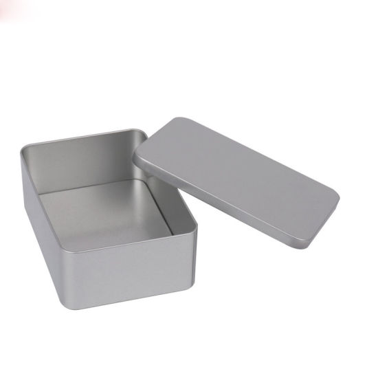 Wholesales Large Size Rectangle Metal Tea Bag Tin Box with Lid