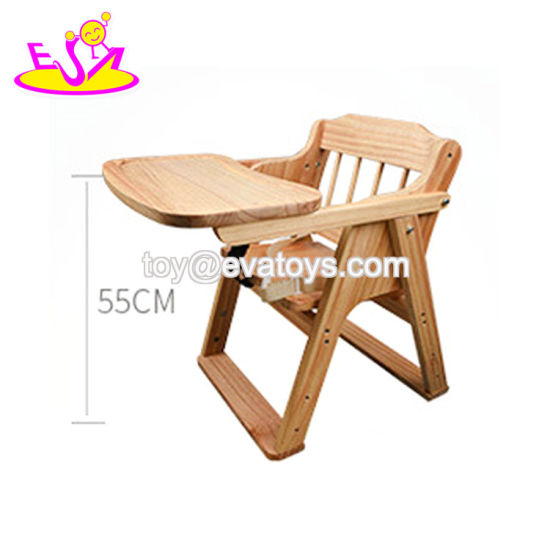 China Custom Adjustable Wooden Baby Feeding Chair With High