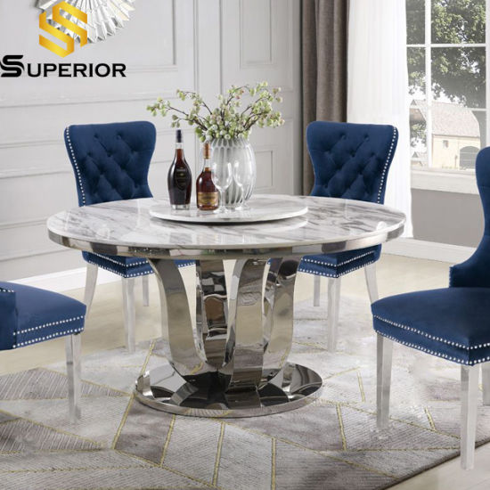 Modern Home Furniture Set Round Marble, Round Marble Dining Table And Chairs