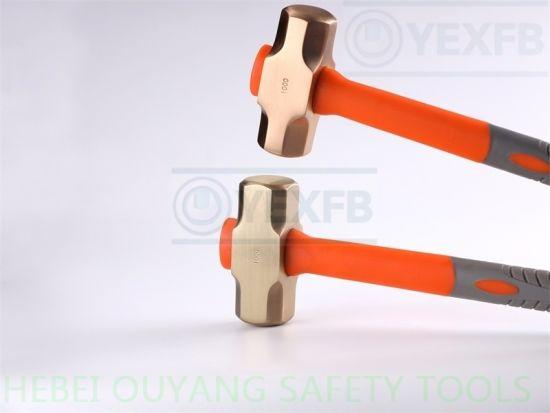 Non-Sparking Hammer Sledge Safety Tools Copper Beryllium 2500g