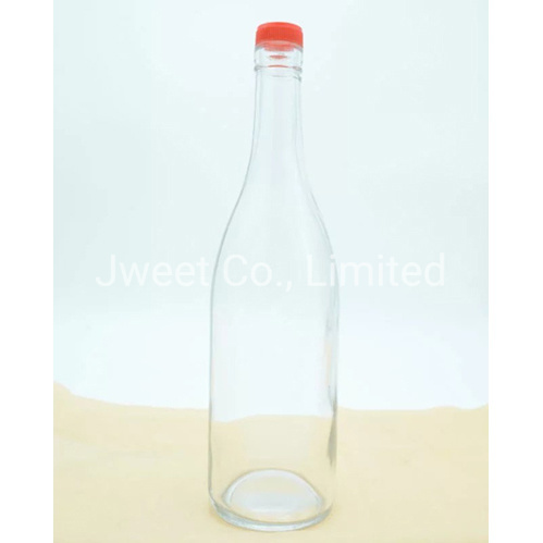 1750ml Highly White Spirit Alcoholic Glass Bottle with Screw Cap