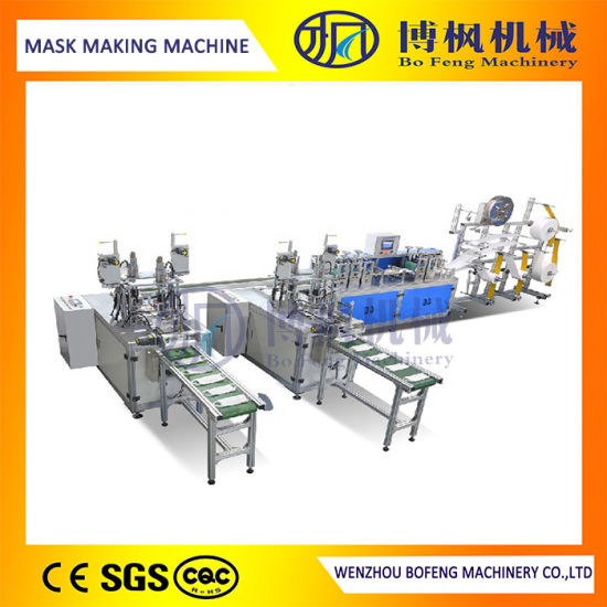 Energy Saving and Fast 3 Ply Surgical Mask Making Machine at Factory Price at Factory Price