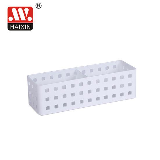 Plastic Storage Basket with Divider for Office Desktop Pensil Organization