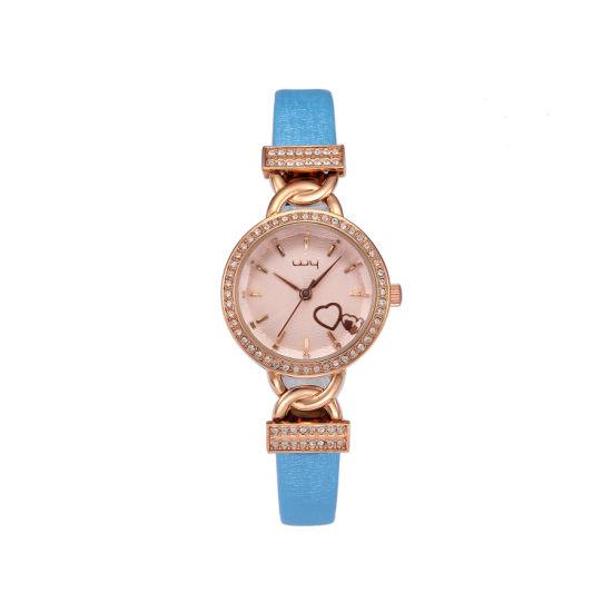 Hot Selling Heart Shape Rhinestone Fashion Lady Quartz Watch Wy-005