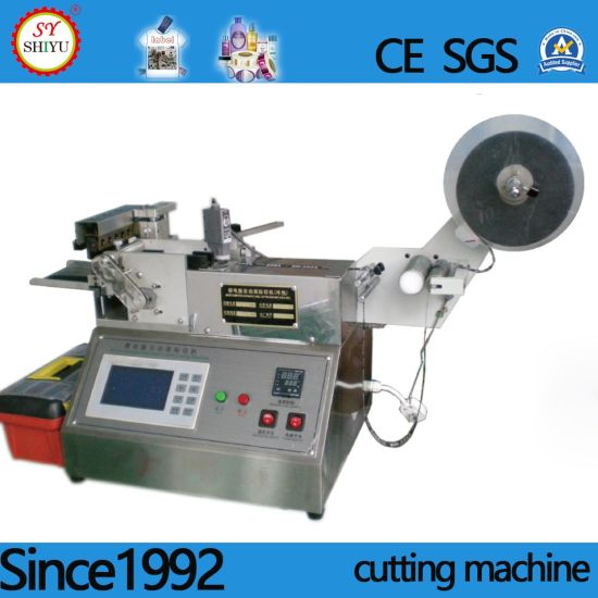 Automatic New Condition Ultrasonic Garment Fabric Ribbon Satin Nylon Label Cutter Cutting Machine