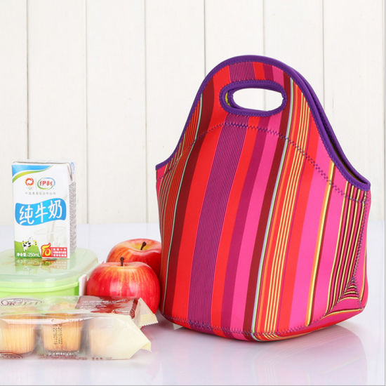 Manufacturer Colorful Insulated Neoprene Lunch Bag
