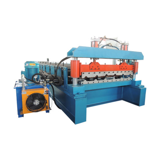 Roofing Metal Steel Trapezoid Panel Machine Step Roof Tile Roll Forming Machine