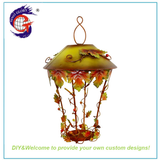 Cheap Wrought Iron Lantern Wall &Ceiling Hanging Votive Glass Candle Holder