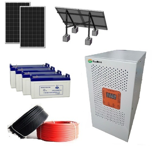 6kw Solar Panel Charge Battery DC96V to AC220V High Frequency Solar Power System
