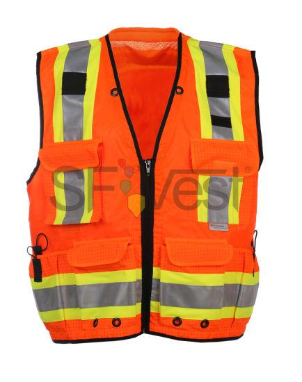 Traffic Warning Reflective Safety Vest with Pockets for Men