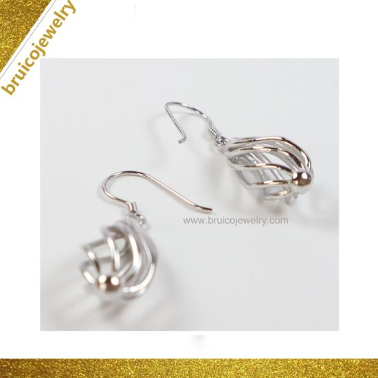 4f84d1ade4 Promotion Price Drop Earring New Design Women 14K White Gold Color Jewelry  Earring Fashion Jewellery