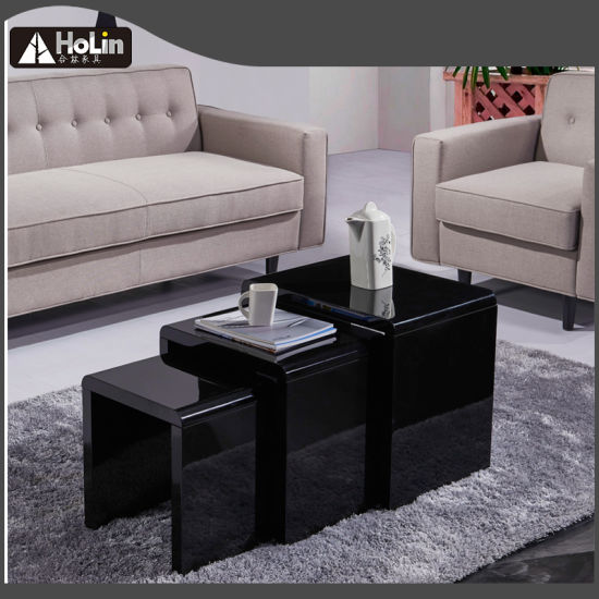 Fabulous China Black High Gloss Coffee Table Tea Table Nesting Tables Pabps2019 Chair Design Images Pabps2019Com