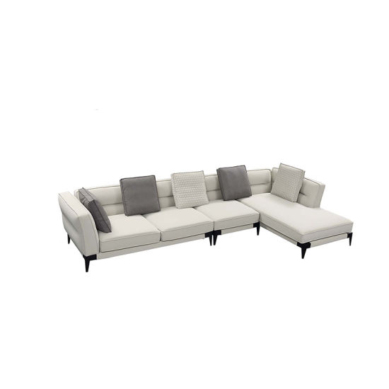 Miraculous French Contemporary L Shape Sectional White Elegant Fabric Tufted Sofa Set Evergreenethics Interior Chair Design Evergreenethicsorg