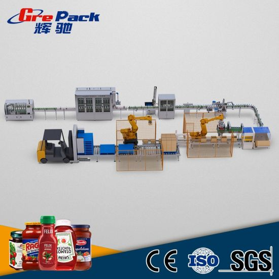 New Finished Spicy Chilli Sauce Paste Filling Machine Line