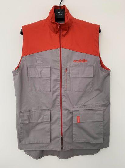 Supermarket Uniform Workwear with OEM Service, Cotton Twill Vest, Gilet