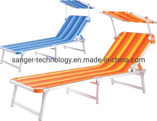 Miraculous China Single Outdoor Chaise Sun Lounge With Shadow Cover For Caraccident5 Cool Chair Designs And Ideas Caraccident5Info
