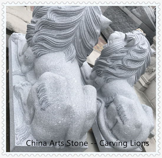Granite Marble Animal Carving Lions for Door pictures & photos