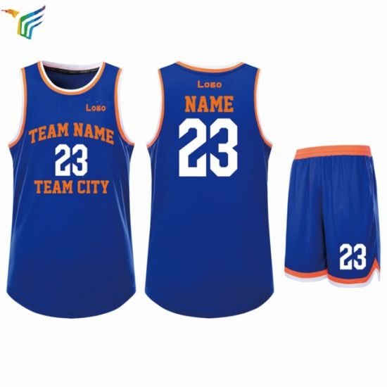 f83cca53f40 Custom Wholesale High Quality Latest Uniform Design Color Blue Logo Design  Reversible Basketball Jersey