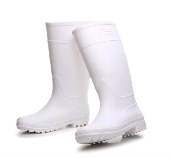 ee6fd418fb5 Wellies Gumboots PVC White Safety Rubber Boots for Food
