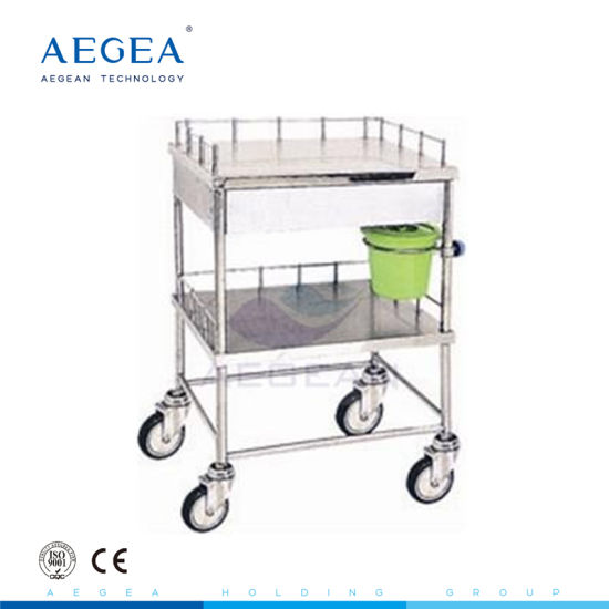 Cheap Two Layers with 4 Wheels Transport Instrument Hospital Carts