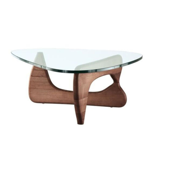 Wholesale Hotel Lobby Furniture Small Round Modern Tempered Glass Coffee Table