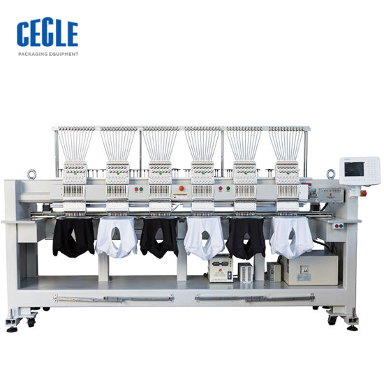 Multifunctional Six Head 12 Needless Sweaters Embroidery Machine 6 Heads Computerized Lace Embroidery Machine Cording Parts