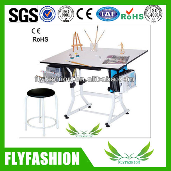 Wooden Kids Study Writing Table Children Drawing Desk Sf 40t