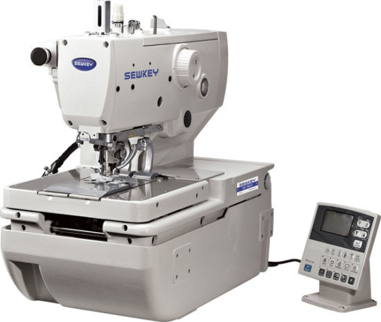 Sk 9820 High-Speed Computerized Eyelet Button Holing Sewing Machine