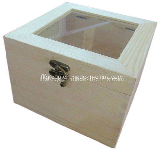 Eco-Friendly Customized Handmade Pine Wood Display Box with Clear Window pictures & photos