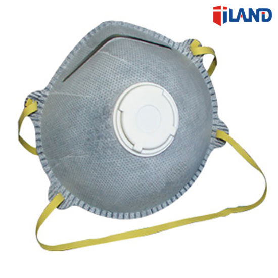 Mask Respirator Carbon N95 Dust Active Moulded Face Conical Disposable Valve With