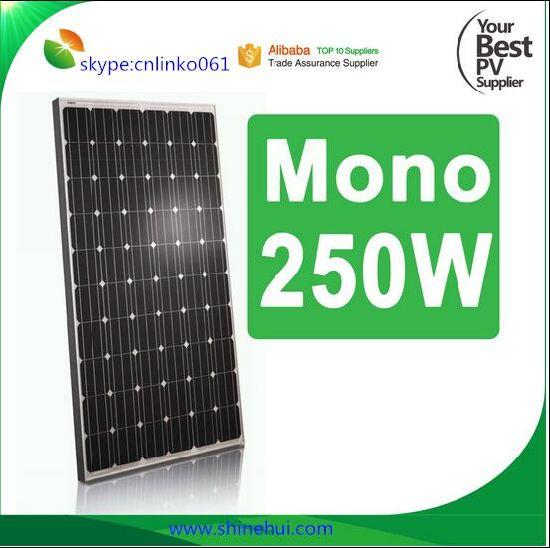 China Cheap Solar Panel Price Pakistan 250w Monocrystalline Solar Panel China Solar Panel 250w Solar Panel