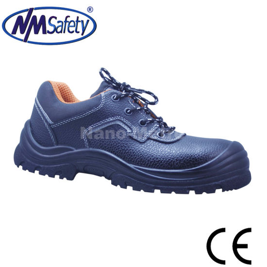 Nmsafety Cowhide Leather Anti Slip Work Safety Shoe pictures & photos